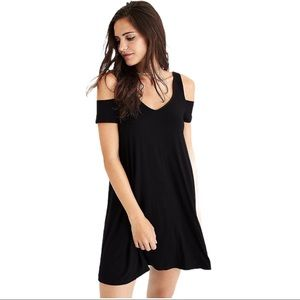 American Eagle Outfitters Swing Dress Black Size S